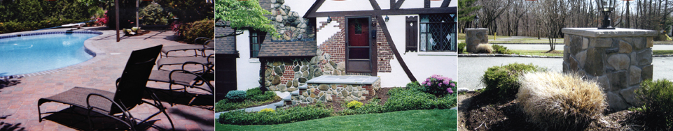 Dente Masonry and Hardscapes: Pools, facades, stonework, fireplaces, patios, paths